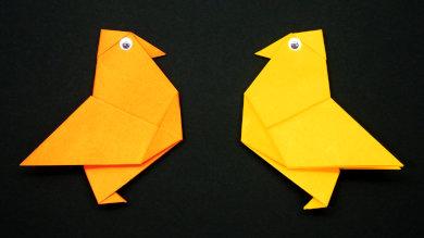 Оригами Цыплёнок
