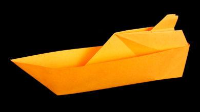 Оригами Яхта