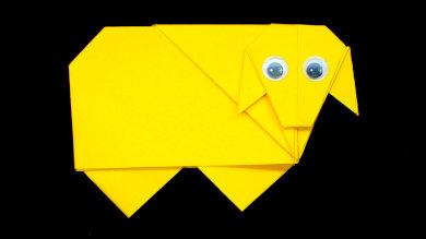 Оригами Овечка