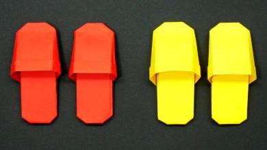 Оригами Тапочки